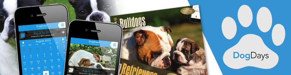 DogDays 2015 Calendar and Puzzle App for iPhone, iPad, Android and Android Tablet