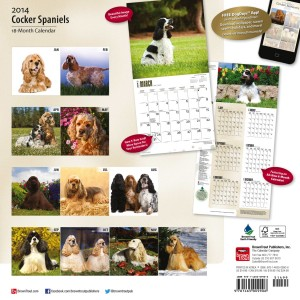 "Cocker Spaniels 12"" x 12"" Square Wall Calendar"