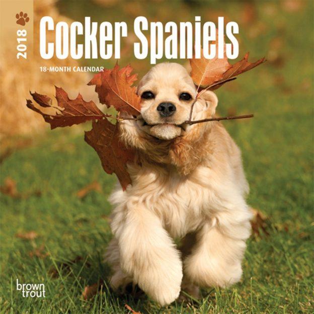 Cocker Spaniels 2018 7 X 7 Inch Monthly Mini Wall Calendar